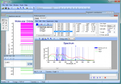 Experimental and calculated spectra