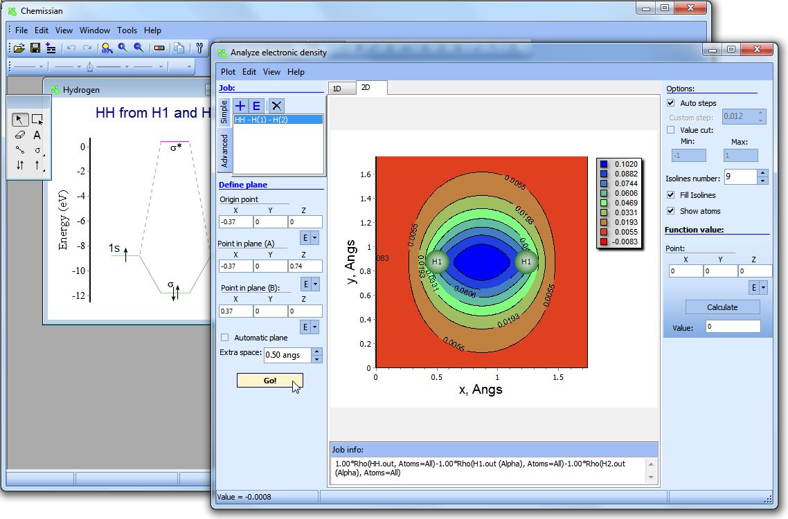 Chemissian: software to analyze spectra, build density maps and
