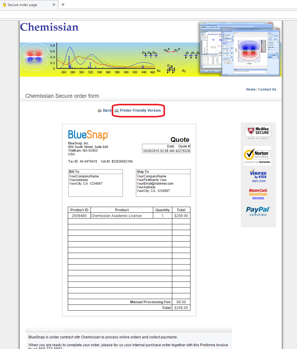 purchase order online